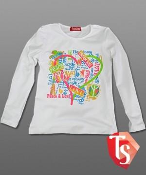 лонгслив для девочки Интернет- магазин  Teenstone 6120501 детские лонгсливы оптом
