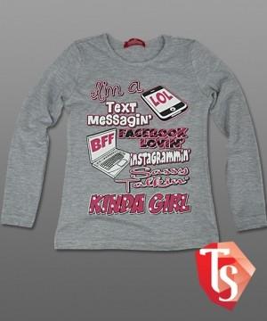 лонгслив для девочки Интернет- магазин  Teenstone 6120603 детские лонгсливы оптом