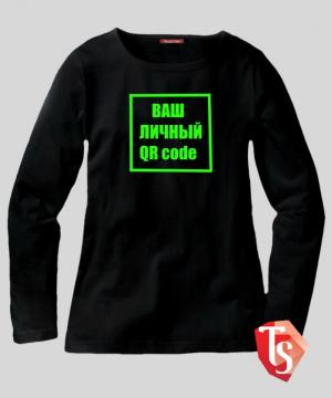лонгслив для девочки qr code Интернет- магазин  Teenstone 6100002 Россия #TeenStone