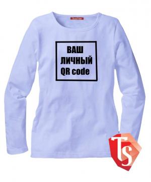 лонгслив для девочки qr code Интернет- магазин  Teenstone 6100006 Россия #TeenStone