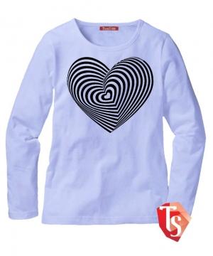 лонгслив для девочки Интернет- магазин  Teenstone 6180006 детские лонгсливы оптом