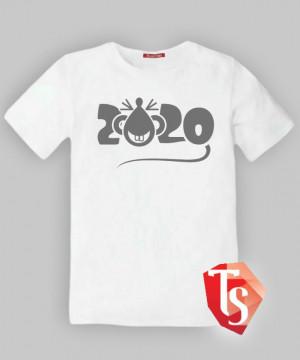 футболка для мальчика Интернет- магазин  Teenstone 5286901 подарки! 2020- год белой металлической крысы