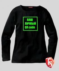 Лонгслив для девочки QR code