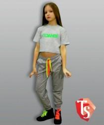 футболка для девочки хип-хоп 9364203 Россия #TeenStone